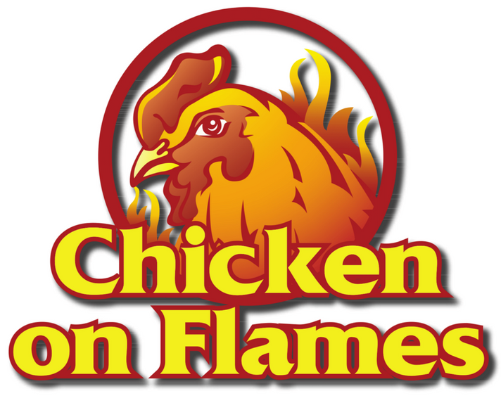 Chicken on flames